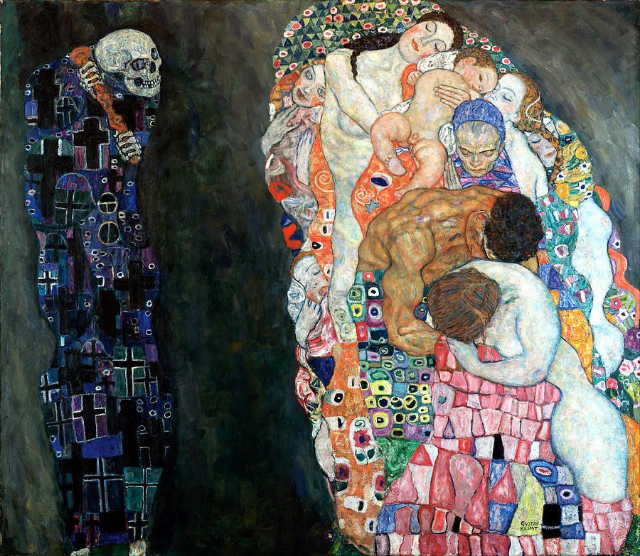 Old Masters Digital Art - Death And Life by Gustive Klimt