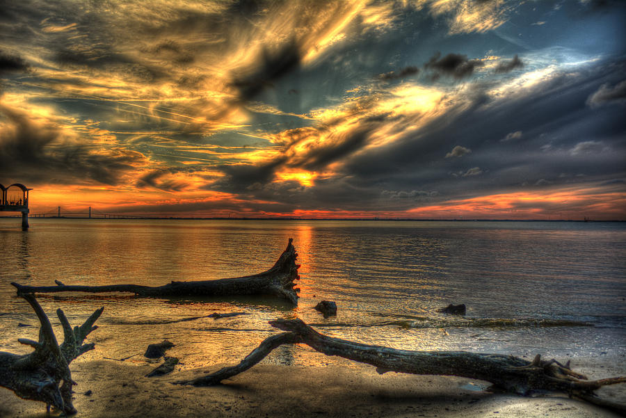 Sunset Photograph - Death By Tide by Greg and Chrystal Mimbs
