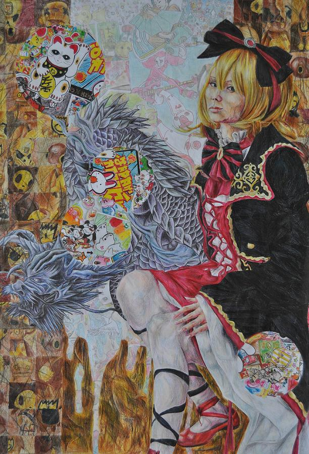 Japan Painting - Death Of Culture by Claudia Laube