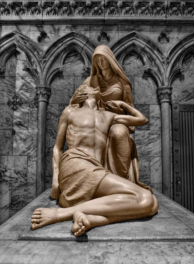 Saint Mary Photograph - Death Of The Son Of God by Lee Dos Santos