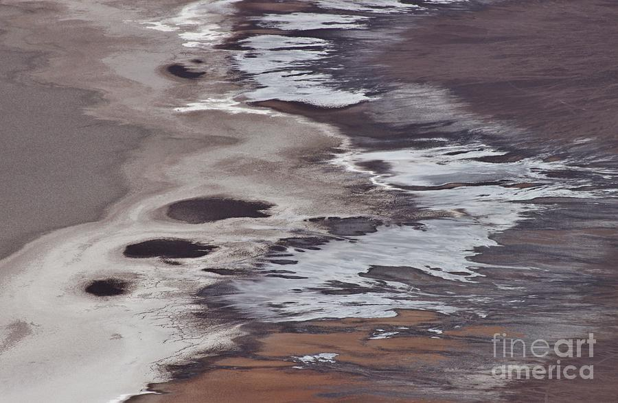Photo Photograph - Death Valley Abstract by Bernard MICHEL