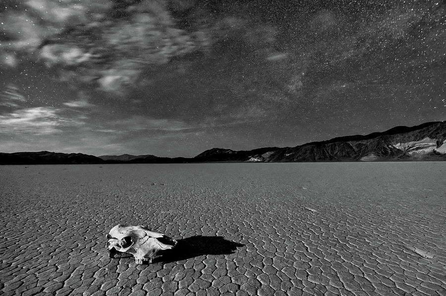 Moonlight Photograph - Death Valley By Moonlight by Hua Zhu