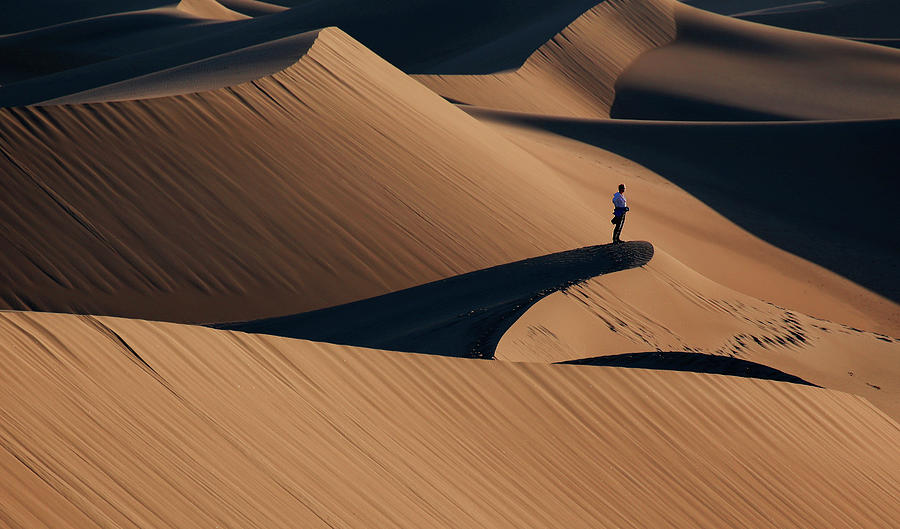 Sand Photograph - Death Valley by Libby Zhang