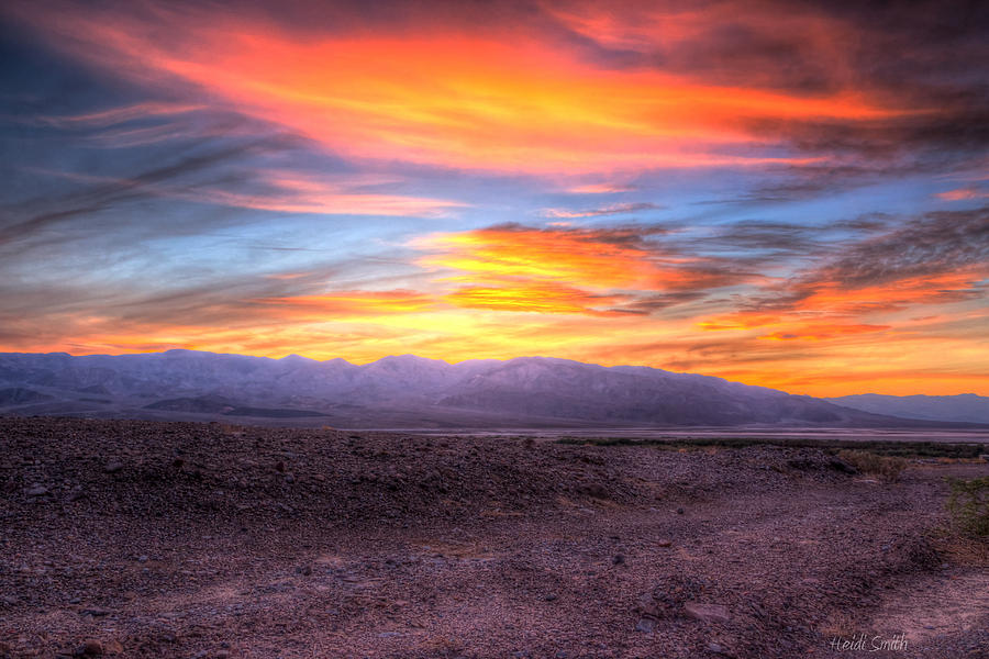 Sunset Photograph - Death Valley Sunset by Heidi Smith