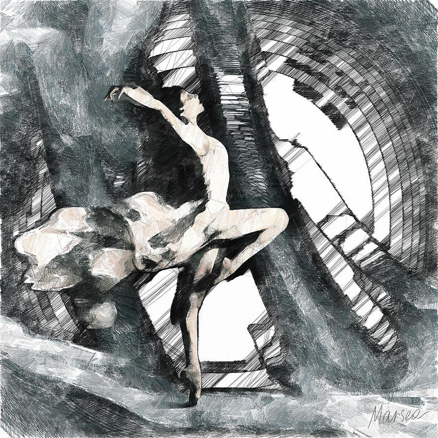 Ballet Digital Art - Debut by Marina Likholat