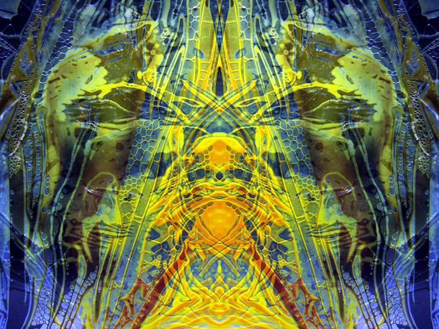 Surrealism Digital Art - Decalcomaniac Intersection 1 by Otto Rapp