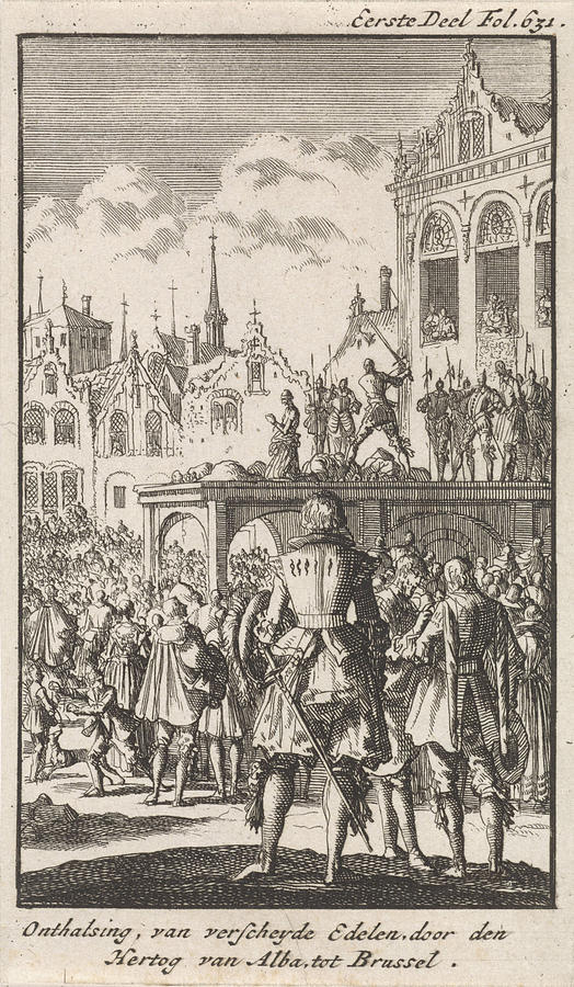 Hoorn Drawing - Decapitation Of The Counts Egmont And Horne by Jan Luyken And Engelbrecht Boucquet & Decapitation Of The Counts Egmont And Horne Drawing by Jan Luyken ... pezcame.com