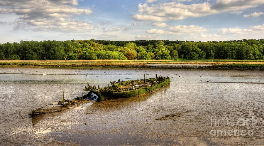 Anchor Photograph - Decay Boats by Svetlana Sewell