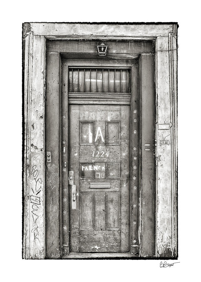 French Quarter Photograph - Decaying Beauty In Black And White by Brenda Bryant