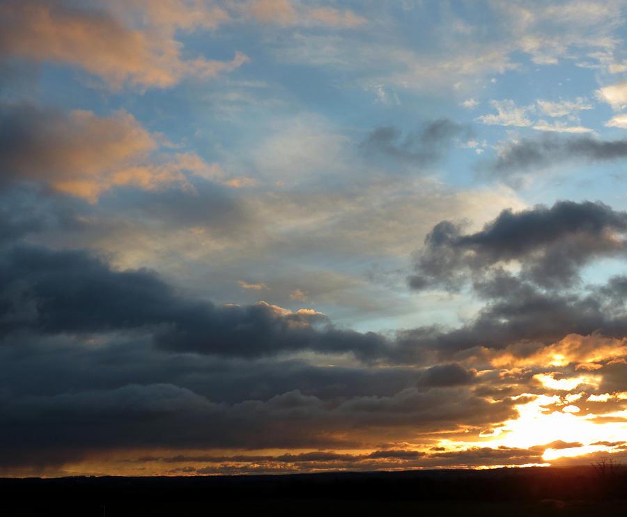 Sky Photograph - December Sunset by Susan Desmore