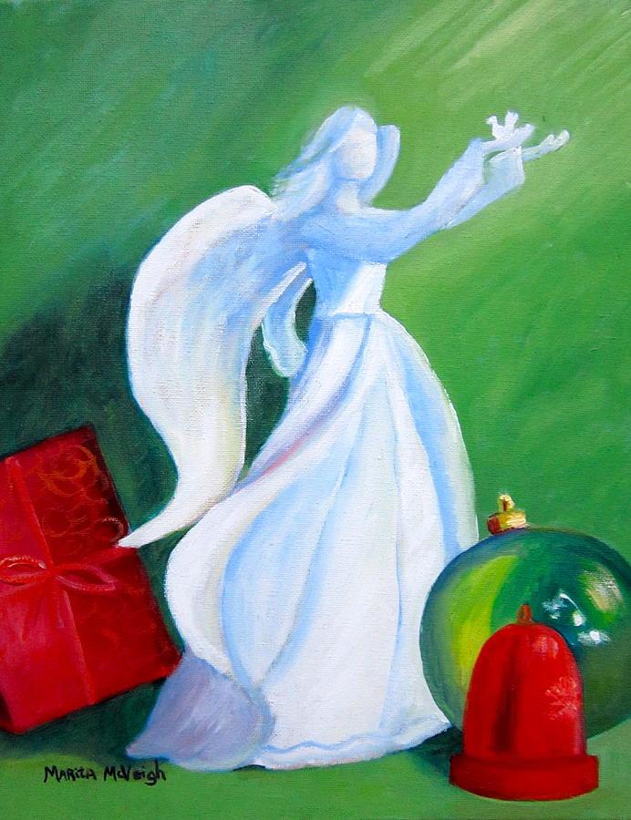 Angel Painting - Decembers Angel by Marita McVeigh