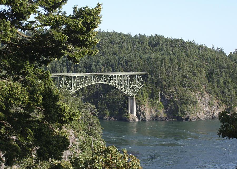 Deception Pass Bridge Photograph - Deception Pass Bridge Iv by Mary Gaines