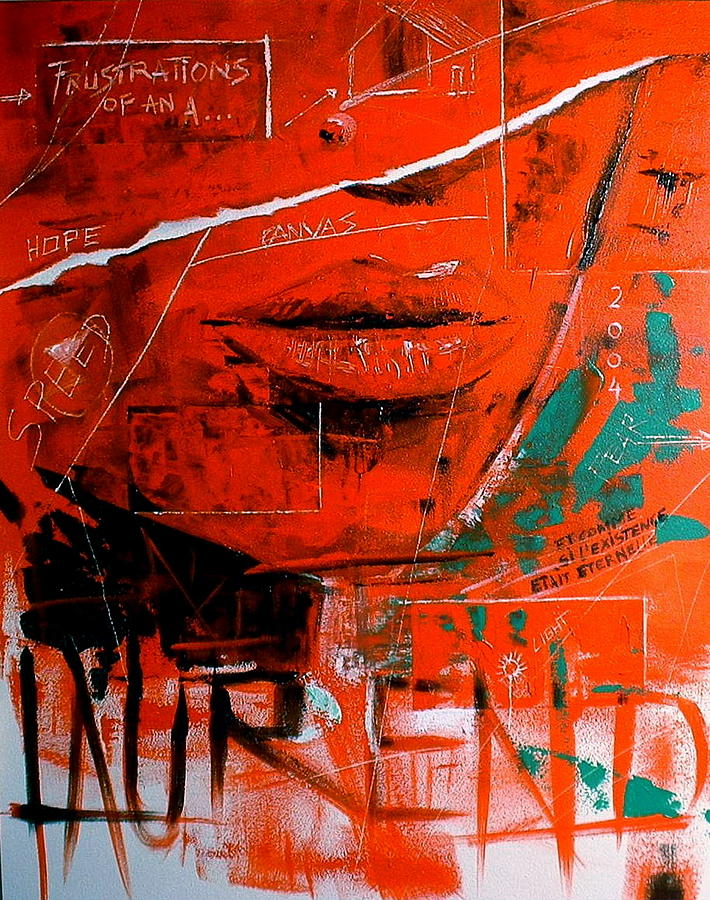 Abstract Painting - Dechirure by Laurend Doumba