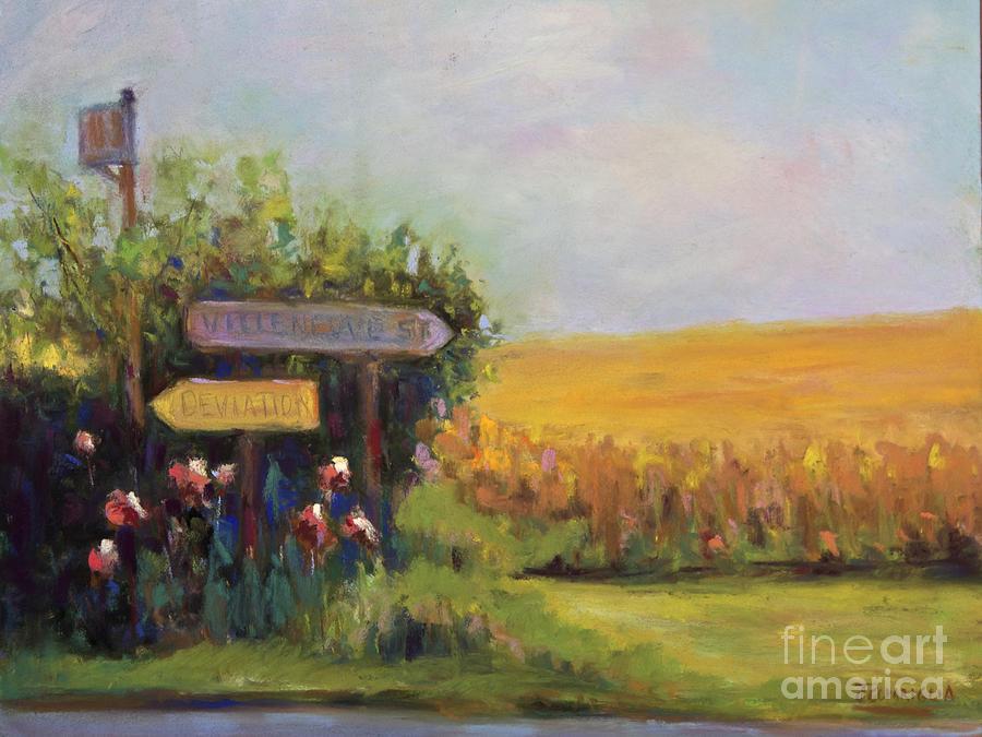 Field Pastel - Decision by Joyce A Guariglia