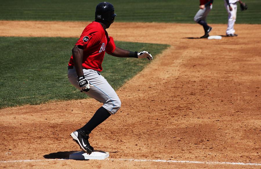 Baseball Photograph - Decision Time by Karol Livote