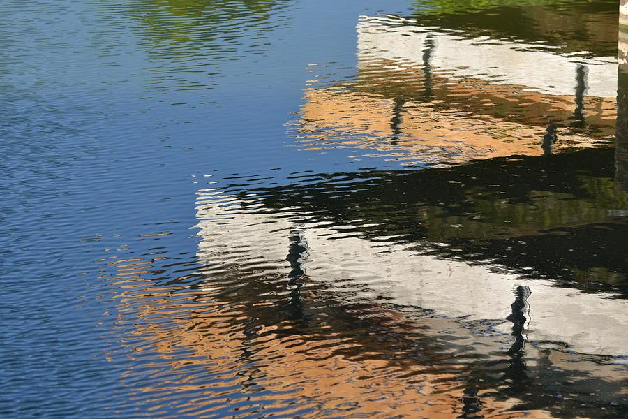 Lake Photograph - Deck Reflections by Bill Mock