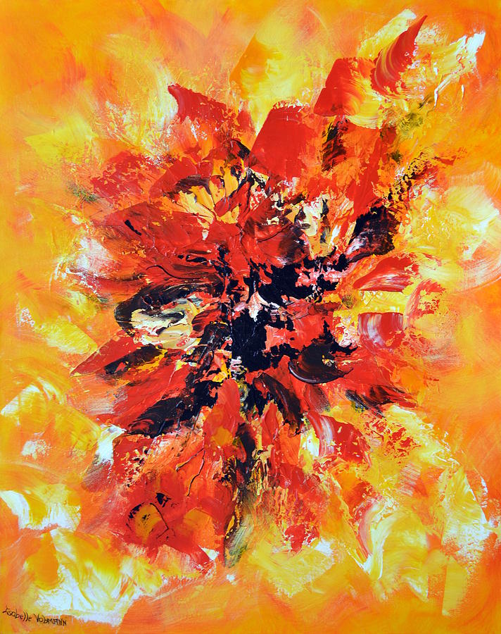 Abstract Painting - Declaration Damour by Isabelle Vobmann