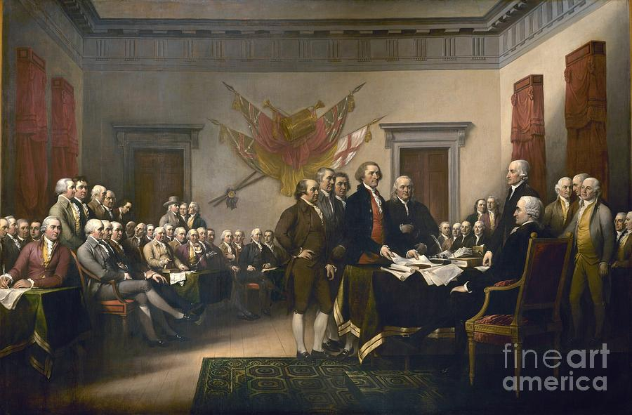 Pd Painting - Declaration Of Independence by Pg Reproductions