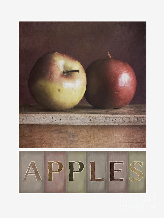 Apples Photograph - Deco Apples by Priska Wettstein