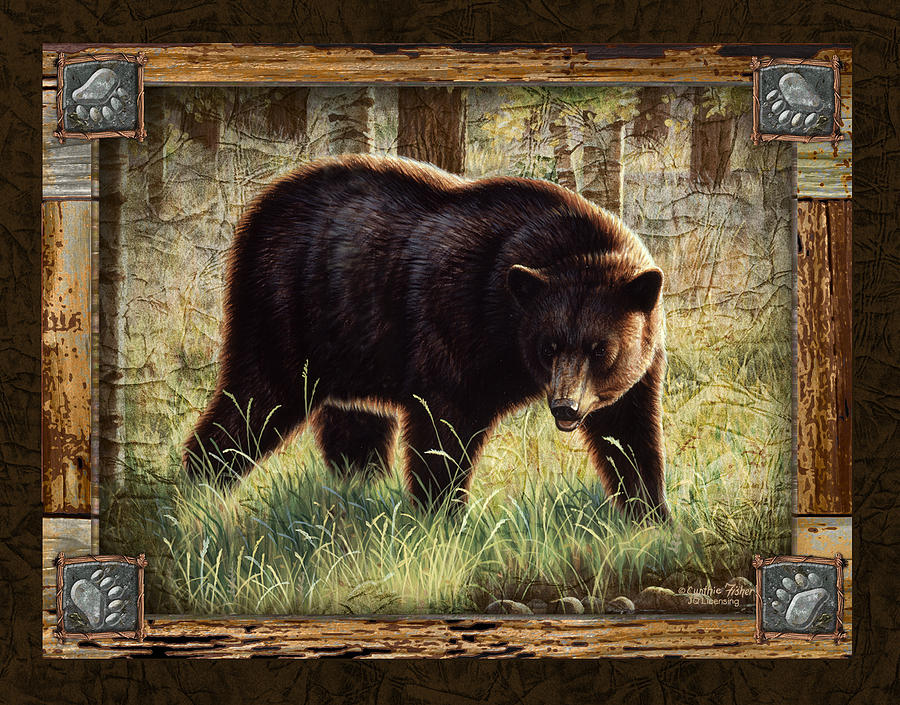 Cynthie Fisher Painting - Deco Black Bear by JQ Licensing