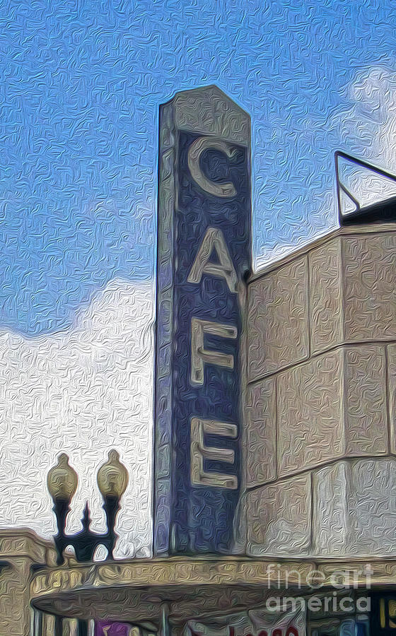 Cafe Sign Painting - Deco Cafe - 02 by Gregory Dyer