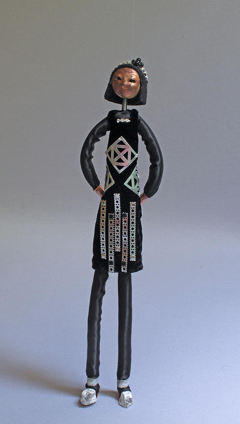 Art Doll Sculpture - Deco by Lynn Wartski