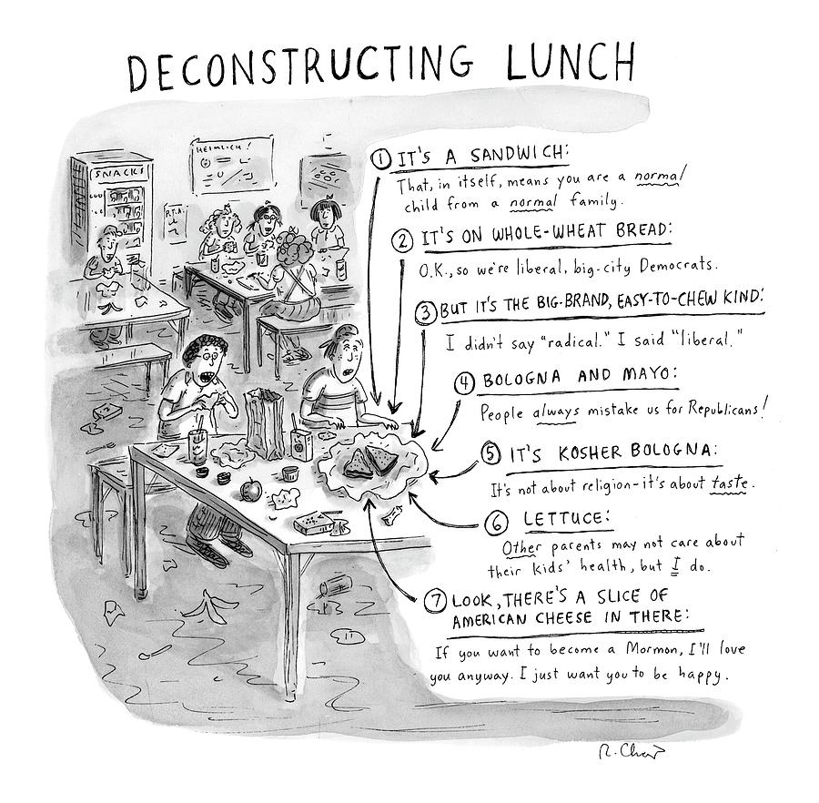 Deconstructing Lunch Drawing by Roz Chast