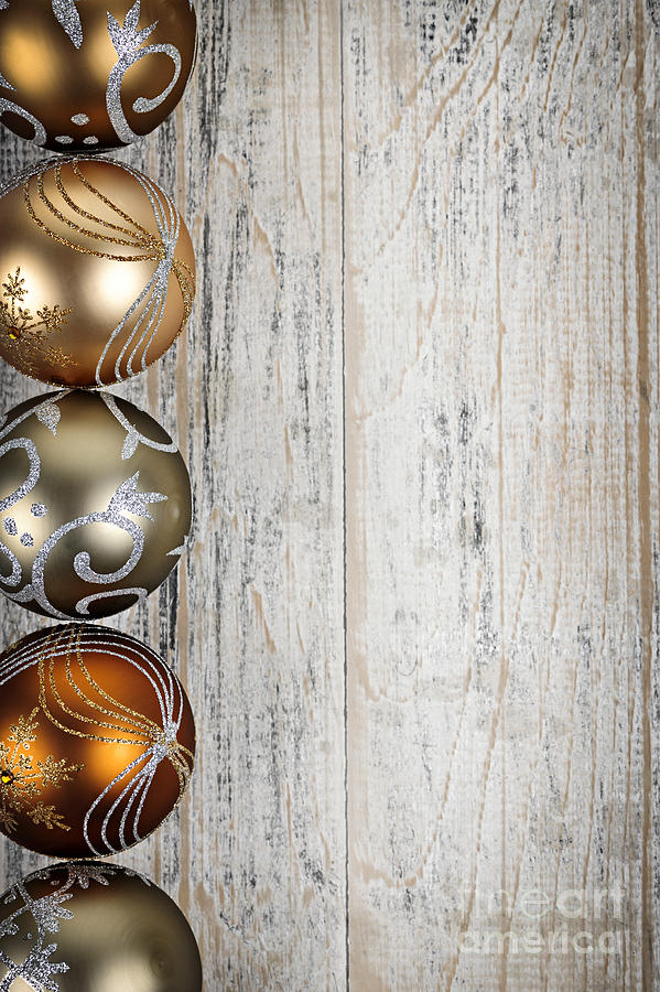 Christmas Photograph - Decorated Christmas Ornaments by Elena Elisseeva