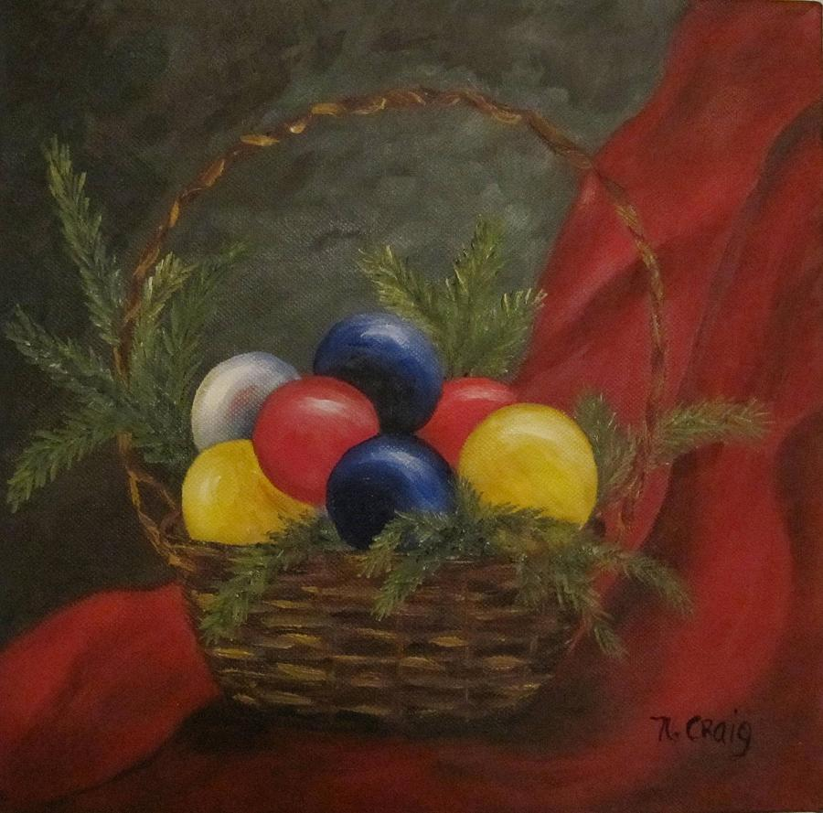 Oil Painting - Decorated For Christmas by Nancy Craig