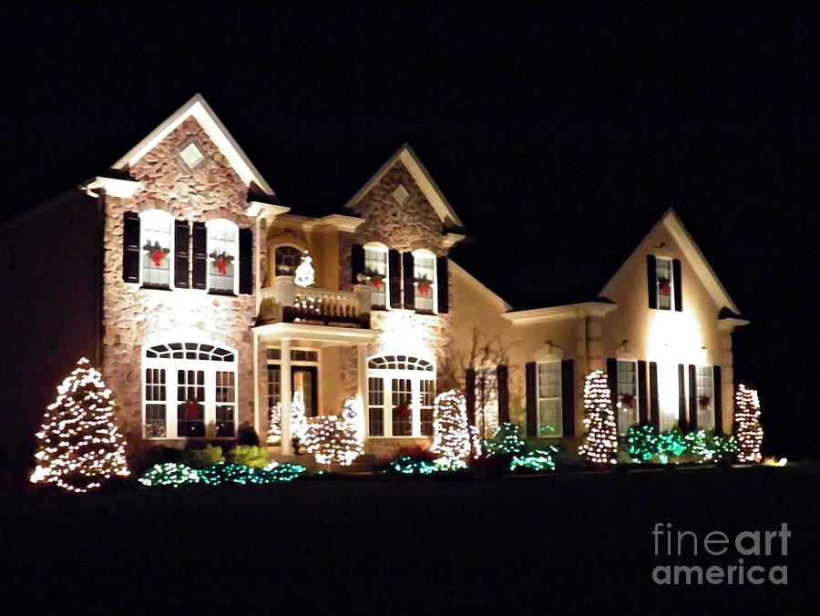 House Photograph - Decorated For Christmas by Sarah Loft