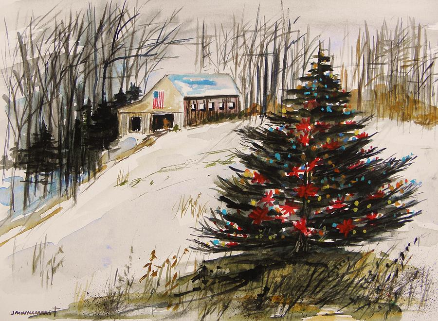Christmas Painting - Decorated In The Snow by John Williams