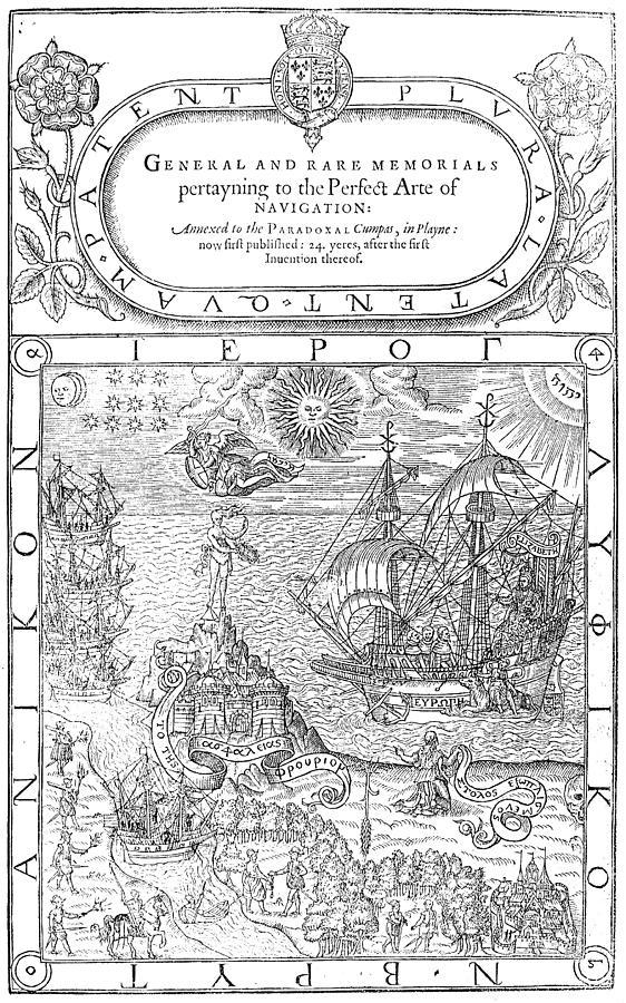 Astrologer Painting - Dee Navigation, 1577 by Granger