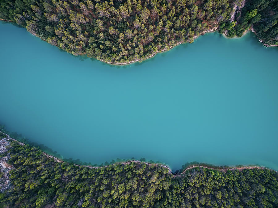 Drone Photograph - Deep Blue by Antonio Carrillo Lopez