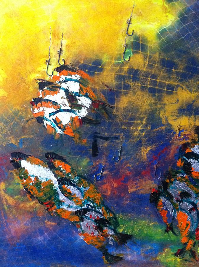Underwater Painting - Deep Blue by Ersan TOKOGLU
