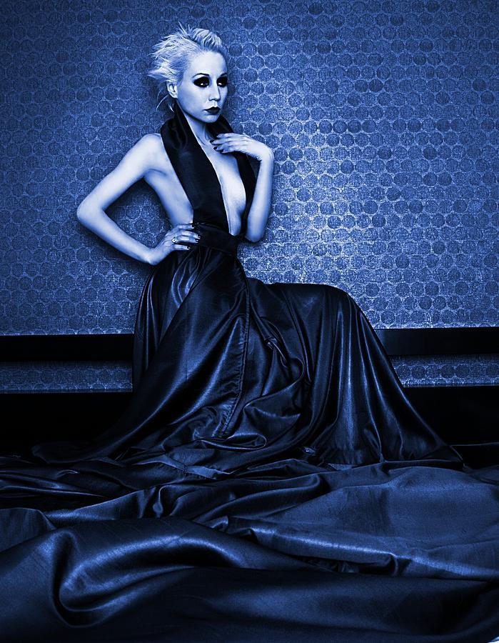 Glow Photograph - Deep Blue by Pamela White