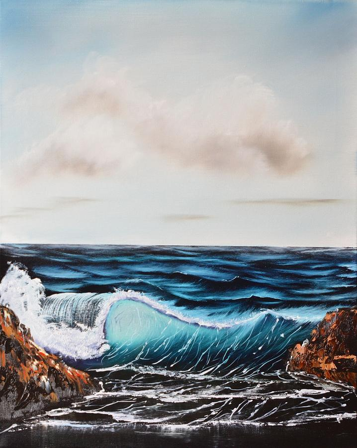 Deep Blue Sea Painting by Marsha Thornton