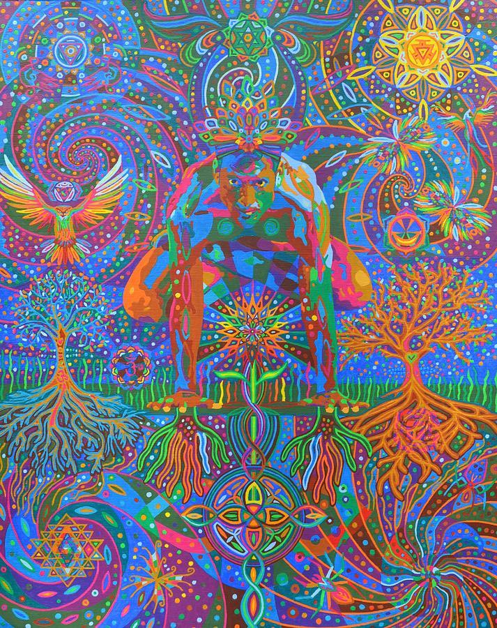Yogic Painting - Deep Consonance - 2013 by Karmym