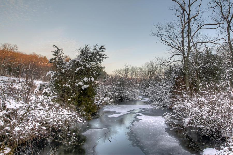 Creek Photograph - Deep Creek At Green Lane Reservoir - Pennsylvania Usa by Mother Nature