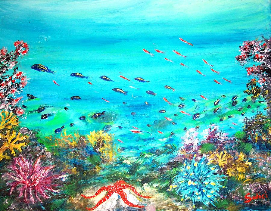 Mary Sedici Painting - Deep End Of The Sea by Mary Sedici