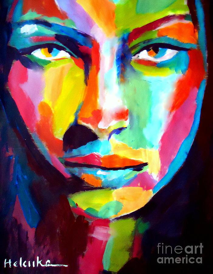 Portrait Painting - Deep Gaze by Helena Wierzbicki