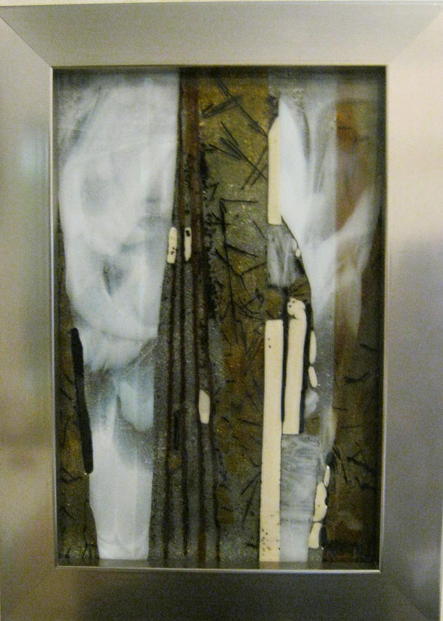 Fused Glass Painting - Deep In The Forest by Mary  Knapp