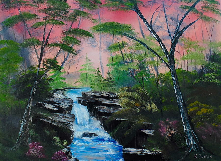 Landscape Paintings Painting - Deep In The Woods by Kevin  Brown