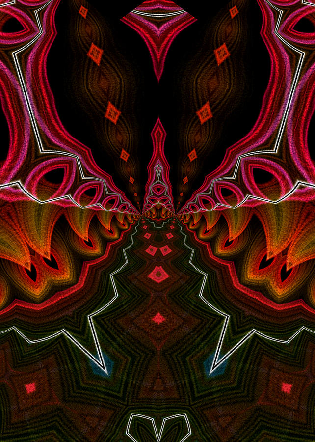 Flame Fractal Digital Art - Deep In Thought by Owlspook