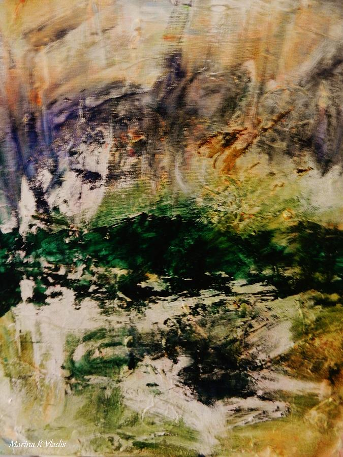 Poetic Painting - Deep Longing by Marina R Vladis