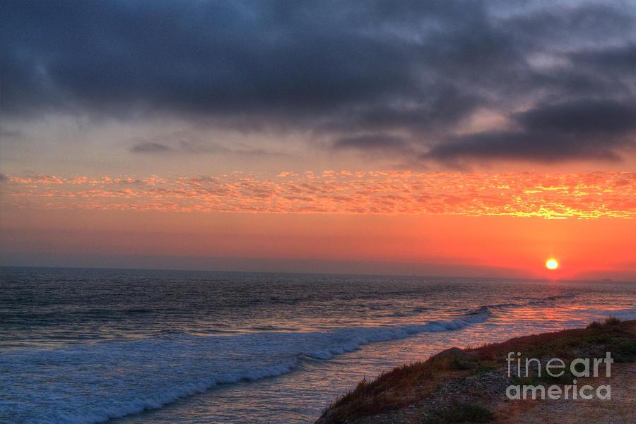 Dog Photograph - Deep Red Sunset by Deborah Smolinske