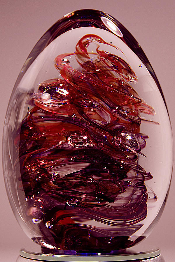 Glass Sculpture - Deep Reds II  Pre1 by David Patterson