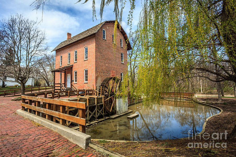 1800's Photograph - Deep River County Park Grist Mill by Paul Velgos
