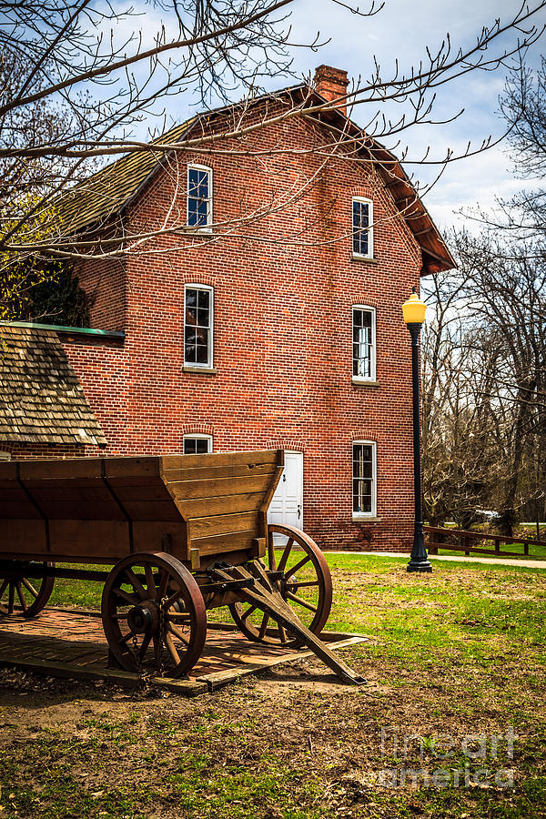 1800's Photograph - Deep River Woods Grist Mill And Wagon by Paul Velgos