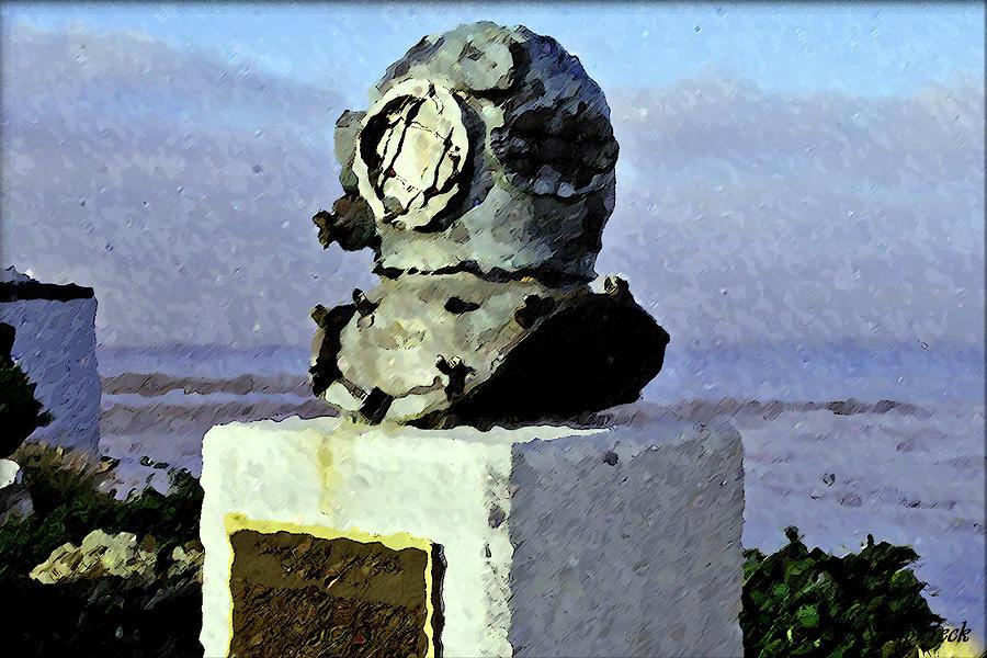 Sea Digital Art - Deep Sea Divers Memorial by Christopher Bage