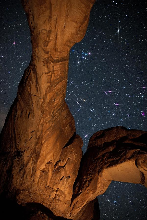 All Rights Reserved Photograph - Deep Space Spectacle From Double Arch by Mike Berenson